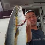 初乗船の森田さん ひらまさげっとおめでとうございます♪
