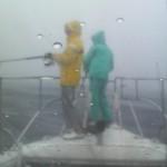 前線通過で激しい雨の中・・・