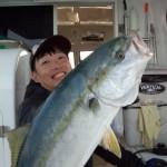初乗船の中島さん ふぁーすとひっと~てんぽ良く釣ってました! あおり狙い時間少なくてすいませんでした 次回はがっつりやりましょう 有難うございました。