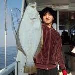 高級魚げっと!本村さんおめでとうございます 初乗船有難うございました。(2.9㌔63㌢)